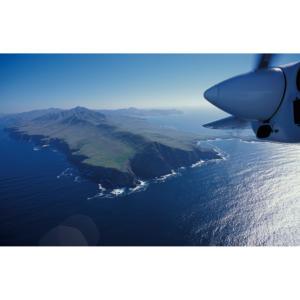 Aerial Photograph of West End of Santa Cruz Island